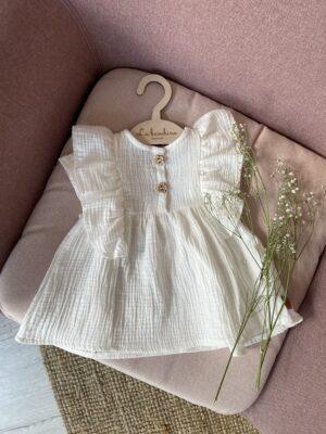 Sukienka muślin ŚMIETANKA